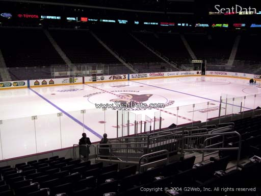 Seat view from section 102 at Gila River Arena, home of the Arizona Coyotes