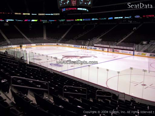 Seat view from section 109 at Gila River Arena, home of the Arizona Coyotes
