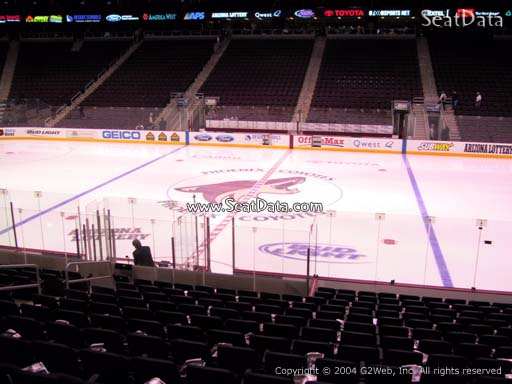 Seat view from section 111 at Gila River Arena, home of the Arizona Coyotes