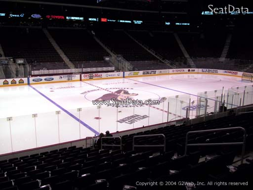 Seat view from section 113 at Gila River Arena, home of the Arizona Coyotes