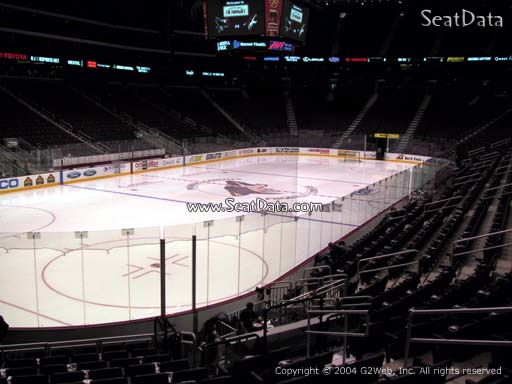 Seat view from section 115 at Gila River Arena, home of the Arizona Coyotes