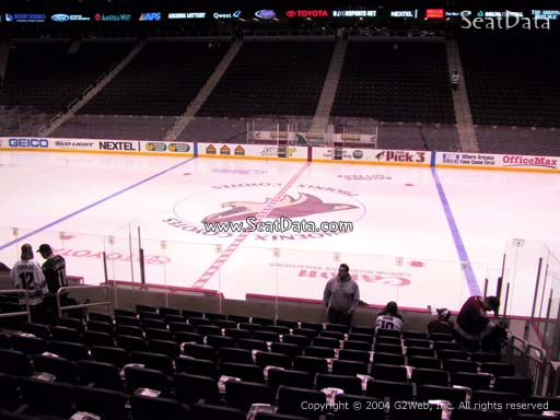 Seat view from section 122 at Gila River Arena, home of the Arizona Coyotes