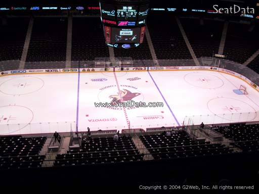 Seat view from section 201 at Gila River Arena, home of the Arizona Coyotes