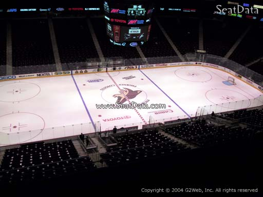 Seat view from section 202 at Gila River Arena, home of the Arizona Coyotes