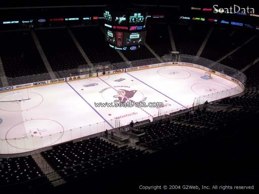 Seat view from section 203 at Gila River Arena, home of the Arizona Coyotes