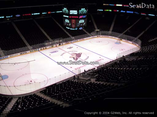 Seat view from section 204 at Gila River Arena, home of the Arizona Coyotes