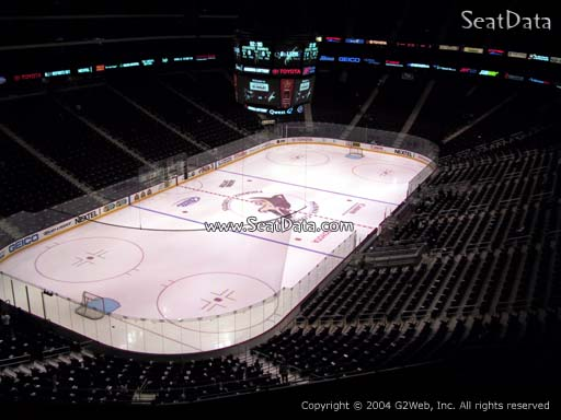Seat view from section 205 at Gila River Arena, home of the Arizona Coyotes