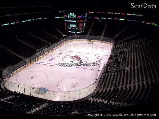 Seat view from section 206 at Gila River Arena, home of the Arizona Coyotes