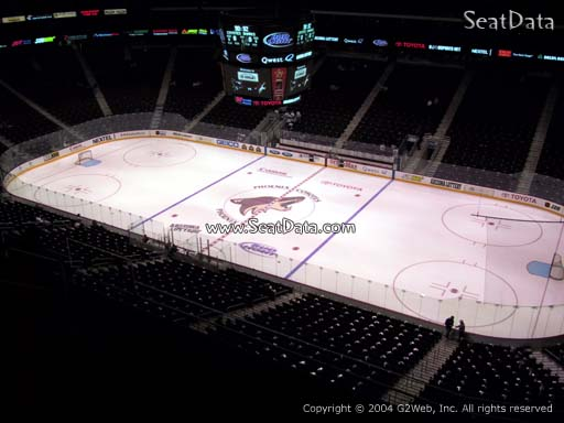 Seat view from section 213 at Gila River Arena, home of the Arizona Coyotes
