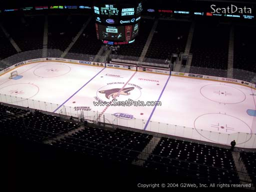 Seat view from section 214 at Gila River Arena, home of the Arizona Coyotes