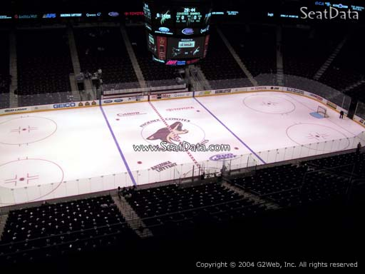Seat view from section 217 at Gila River Arena, home of the Arizona Coyotes