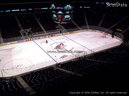 Seat view from section 218 at Gila River Arena, home of the Arizona Coyotes