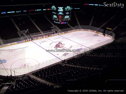 Seat view from section 219 at Gila River Arena, home of the Arizona Coyotes
