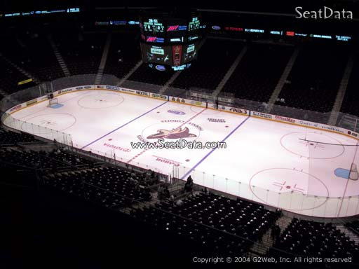 Seat view from section 228 at Gila River Arena, home of the Arizona Coyotes