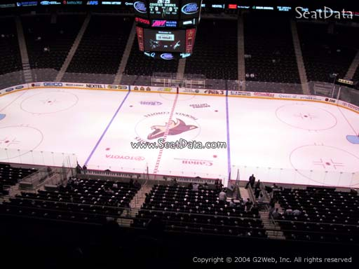 Seat view from section 230 at Gila River Arena, home of the Arizona Coyotes