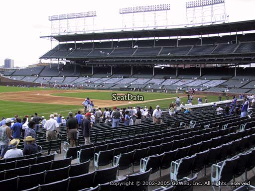 Seat view from section 108 at Wrigley Field, home of the Chicago Cubs