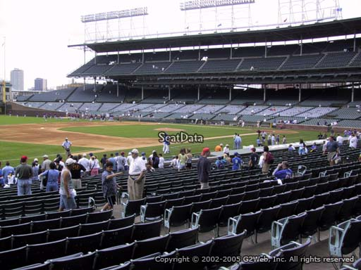 Seat view from section 109 at Wrigley Field, home of the Chicago Cubs