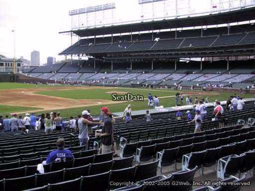 Seat view from section 110 at Wrigley Field, home of the Chicago Cubs