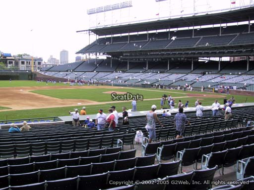 Seat view from section 111 at Wrigley Field, home of the Chicago Cubs