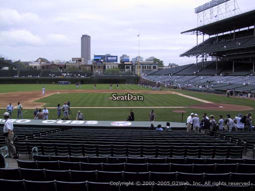 Seat view from section 115 at Wrigley Field, home of the Chicago Cubs