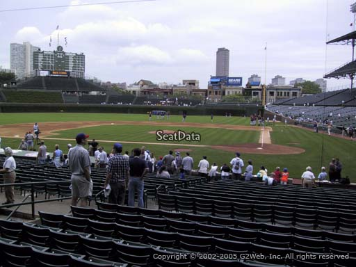 Seat view from section 117 at Wrigley Field, home of the Chicago Cubs