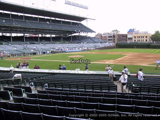 Seat view from section 130 at Wrigley Field, home of the Chicago Cubs