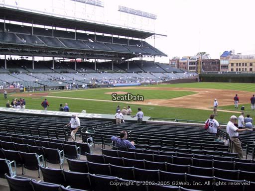 Seat view from section 131 at Wrigley Field, home of the Chicago Cubs