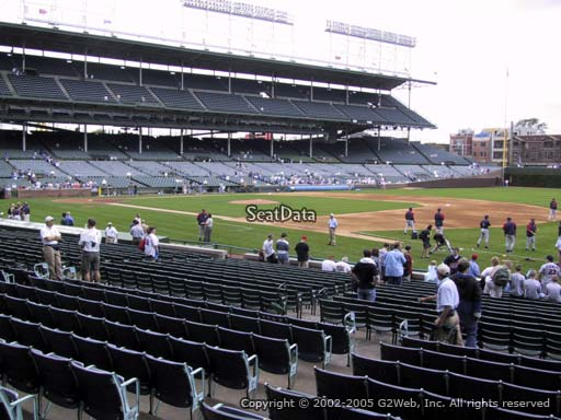 Seat view from section 133 at Wrigley Field, home of the Chicago Cubs