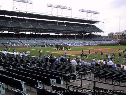 Seat view from section 134 at Wrigley Field, home of the Chicago Cubs