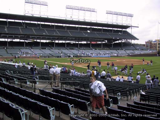 Seat view from section 135 at Wrigley Field, home of the Chicago Cubs