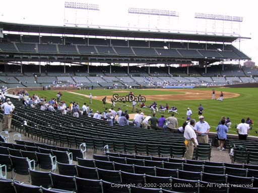 Seat view from section 137 at Wrigley Field, home of the Chicago Cubs