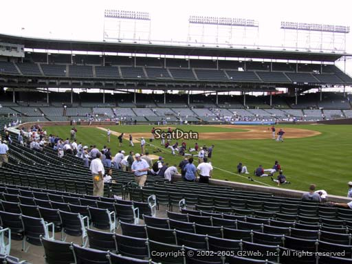 Seat view from section 138 at Wrigley Field, home of the Chicago Cubs