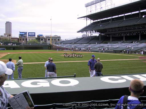 Seat view from section 14 at Wrigley Field, home of the Chicago Cubs