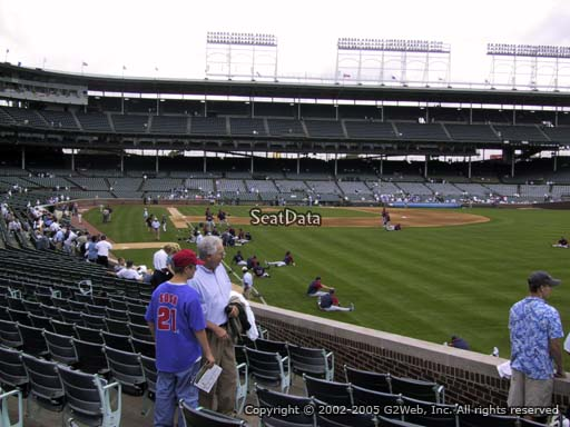 Seat view from section 140 at Wrigley Field, home of the Chicago Cubs