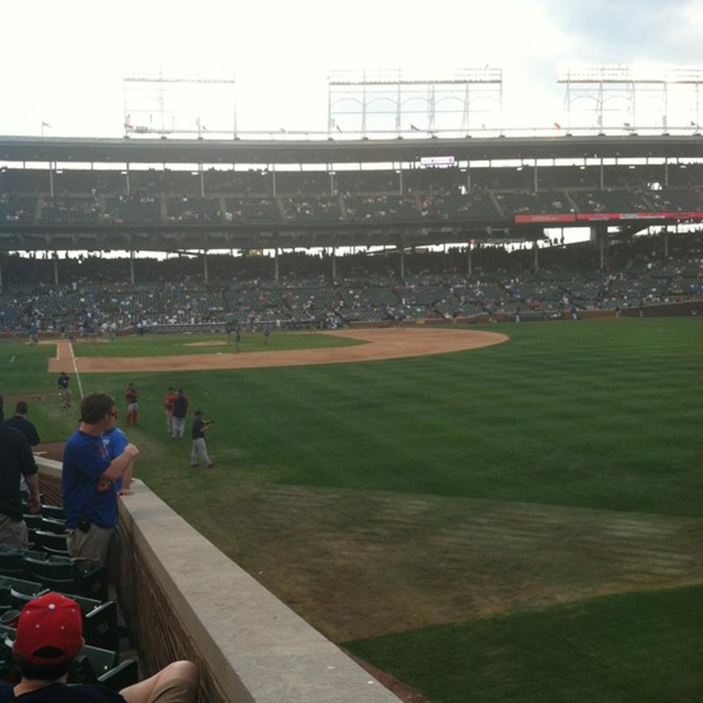 Seat view from section 142 at Wrigley Field, home of the Chicago Cubs