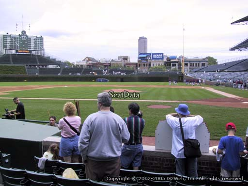 Seat view from section 16 at Wrigley Field, home of the Chicago Cubs