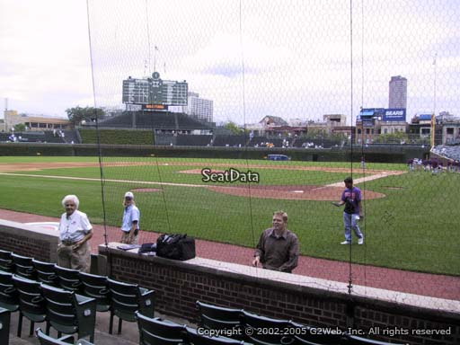 Seat view from section 19 at Wrigley Field, home of the Chicago Cubs