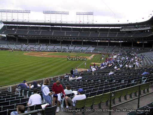Seat view from section 201 at Wrigley Field, home of the Chicago Cubs