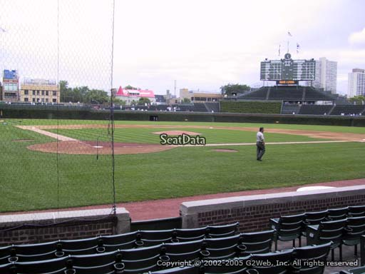 Seat view from section 24 at Wrigley Field, home of the Chicago Cubs