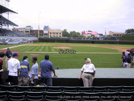 Seat view from section 26 at Wrigley Field, home of the Chicago Cubs