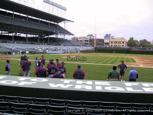 Seat view from section 30 at Wrigley Field, home of the Chicago Cubs