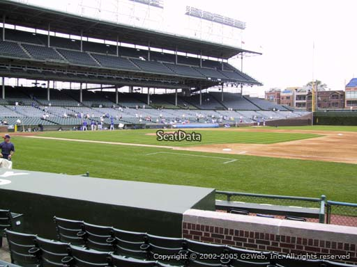 Seat view from section 32 at Wrigley Field, home of the Chicago Cubs