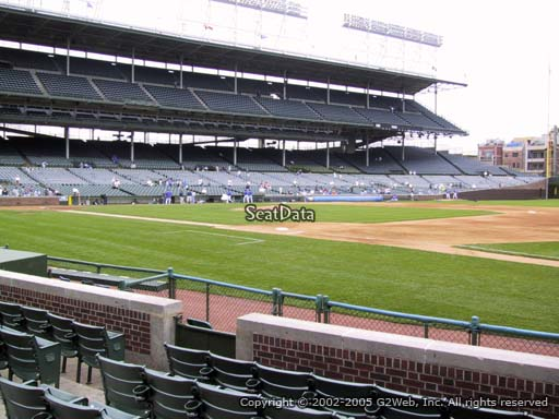 Seat view from section 33 at Wrigley Field, home of the Chicago Cubs