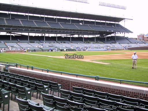 Seat view from section 34 at Wrigley Field, home of the Chicago Cubs