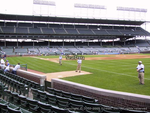 Seat view from section 36 at Wrigley Field, home of the Chicago Cubs