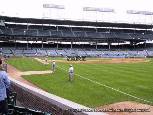 Seat view from section 38 at Wrigley Field, home of the Chicago Cubs
