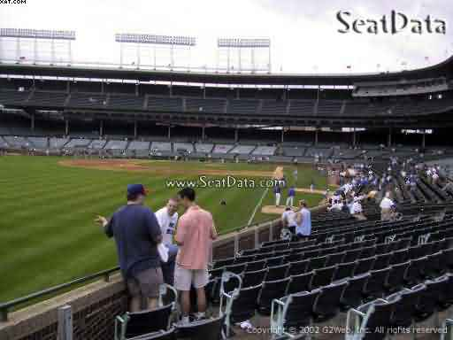 Seat view from section 4 at Wrigley Field, home of the Chicago Cubs