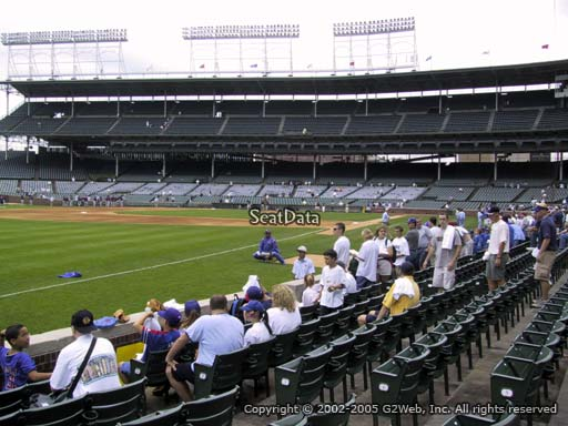 Seat view from section 6 at Wrigley Field, home of the Chicago Cubs