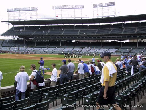 Seat view from section 7 at Wrigley Field, home of the Chicago Cubs