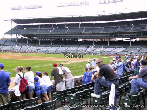 Seat view from section 8 at Wrigley Field, home of the Chicago Cubs